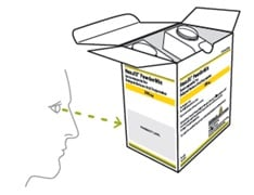 Find the dose amount (look for the 'mL' written on the prescription label on the box from your healthcare provider).image