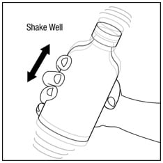 Make sure the bottle cap is put on tightly and shake well before each use.