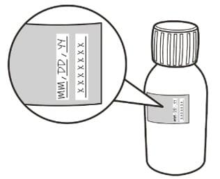 Image of expiry date on Evrysdi bottle.