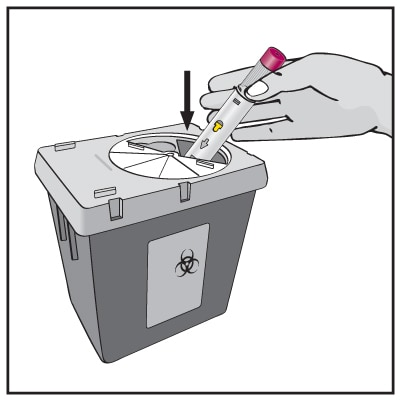 Put your Pen in a FDA-cleared sharps disposal container right away after use.