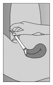 Lie on back with knees drawn up. To deliver Premarin Vaginal Cream, gently insert applicator deeply into vagina and press plunger downward to its original position.