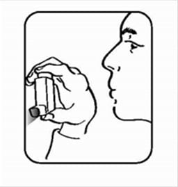 Shake the ProAir inhaler well and spray in into the air away from your face to prime it.