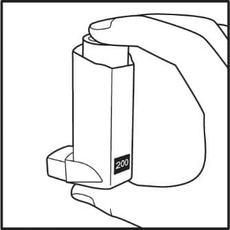 Shake and spray your Ventolin HFA inhaler 3 more times to prime it.