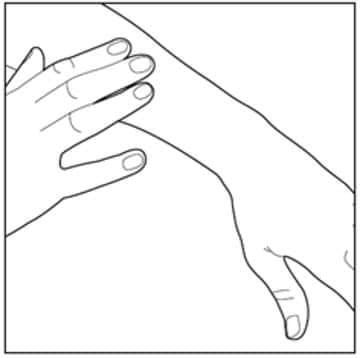 Gently rub Enstilar foam into your affected skin area.