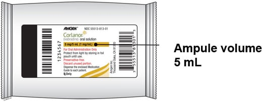 Corlanor ampule volume is 5 ml.