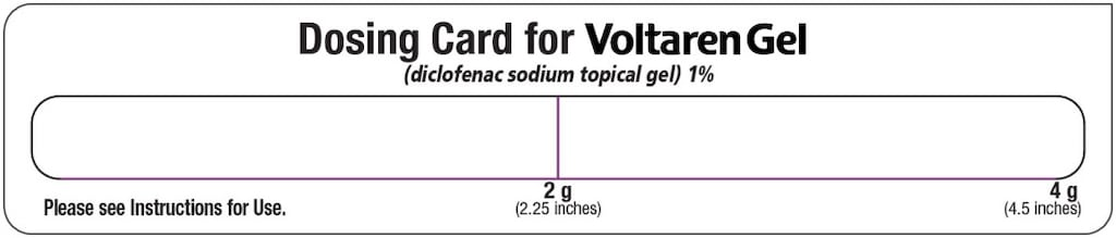 Dosing card showing 2.25 inch line for 2 gram dose and 4.5 inch line for 4 gram dose image