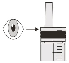 Check that there is no Evrysdi left in the oral syringe.image