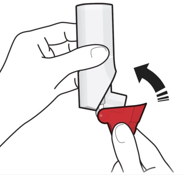 Close the red cap on your ProAir RespiClick inhaler firmly over the mouthpiece.