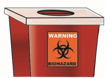 Image of biohazard container