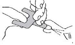 Press the plunger firmly to give the dose of Kloxxado nasal spray.image