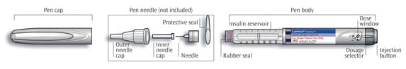 diagram of lantus solostar pen.image