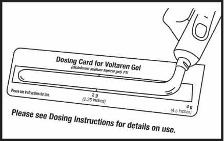 Squeeze gel onto the dose card up to the 4 gram line covering the 4 gram area of the dosing card image