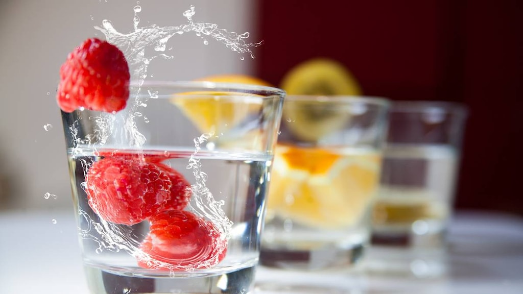 Drinking water and foods high in vitamin C.