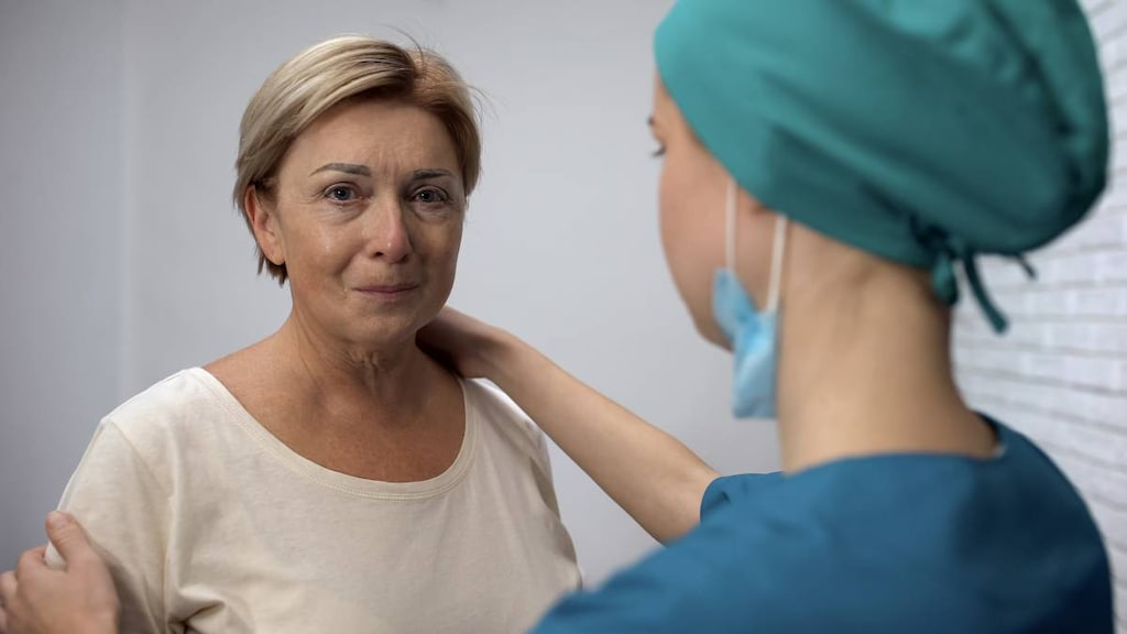 Woman with early cancer