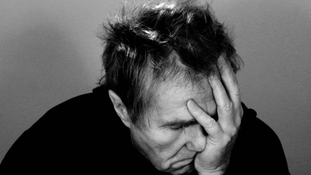 Man with sinusitis