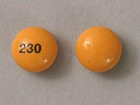 Imprint 230 - bisacodyl 5 mg