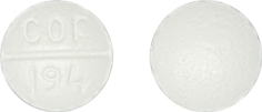 Imprint cor 194 - benzphetamine 50 mg