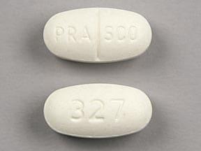 Imprint PRASCO 327 - guaifenesin/phenylephrine 30 mg / 900 mg