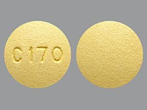 Imprint C170 - darifenacin 7.5 mg