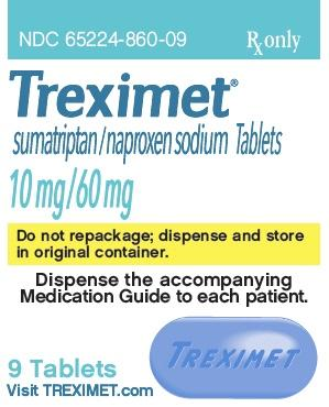Imprint TREXIMET 10-60 - Treximet naproxen sodium 60 mg / sumatriptan 10 mg