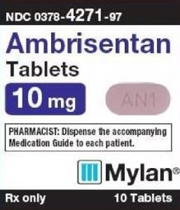Imprint M AN1 - ambrisentan 10 mg