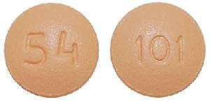 Imprint 54 101 - bosentan 62.5 mg