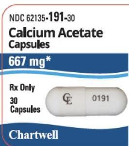 Imprint CE 0191 - calcium acetate 667 mg