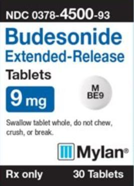 Imprint M BE9 - budesonide 9 mg