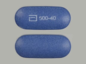 Imprint a 500-40 - Simcor 500 mg / 40 mg