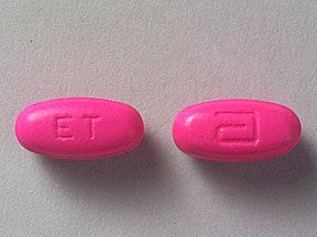 Image 1 - Imprint a ET - Erythrocin Stearate Filmtab 500 mg