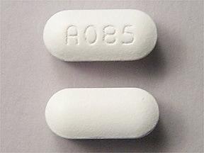 Imprint A 085 - Choline Magnesium Trisalicylate 750 mg