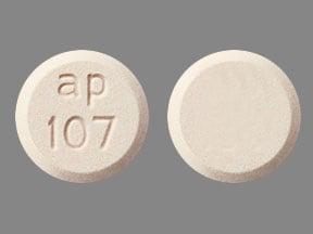 Imprint ap 107 - Emverm 100 mg