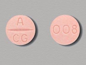 Imprint A CG 008 - Atacand 8 mg