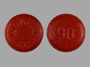 Image 1 - Imprint ADALAT CC 90 - Adalat CC 90 mg