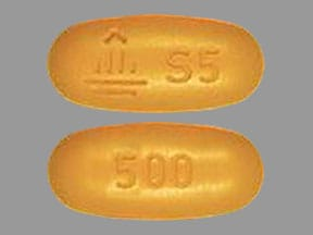 Imprint Logo S5 500 - Synjardy empagliflozin 5 mg / metformin hydrochloride 500 mg
