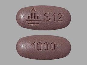 Imprint Logo S12 1000 - Synjardy empagliflozin 12.5 mg / metformin hydrochloride 1000 mg