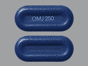 Imprint OMJ 250 - Nucynta ER 250 mg