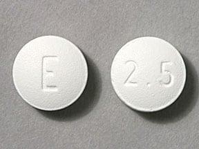Imprint E 2.5 - frovatriptan 2.5 mg