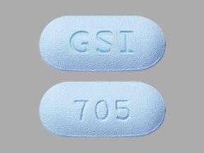 Imprint GSI 705 - Truvada 167 mg / 250 mg