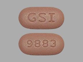 Imprint GSI 9883 - Biktarvy bictegravir 50 mg / emtricitabine 200 mg / tenofovir alafenamide 25 mg