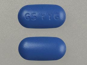 Imprint GS YYG - Treximet 500 mg / 85 mg