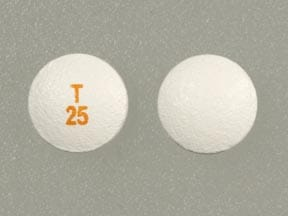Imprint T 25 - Tarceva 25 mg