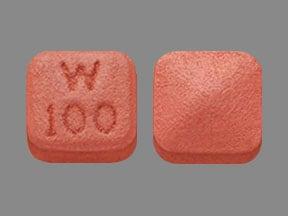 Imprint W  100 - Pristiq 100 mg