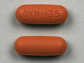 Imprint DYN-135 - Solodyn 135 mg