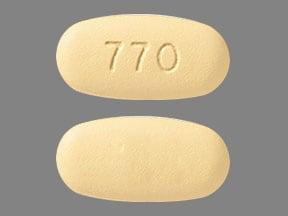 Imprint 770 - Zepatier elbasvir 50 mg / grazoprevir 100 mg