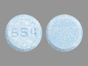 Imprint 654 - Sinemet 25 mg / 250 mg