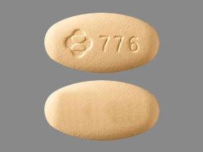 Imprint Logo 776 - Delstrigo doravirine 100 mg / lamivudine 300 mg / tenofovir disoproxil fumarate 300 mg
