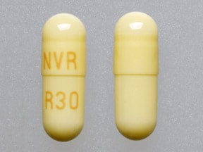 Imprint NVR R30 - Ritalin LA 30 mg