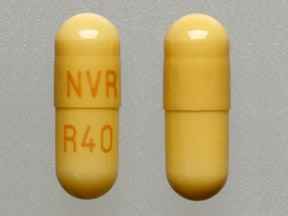 Imprint NVR R40 - Ritalin LA 40 mg