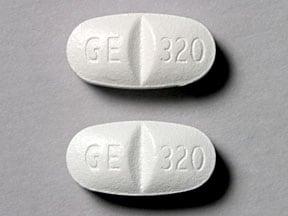 Imprint GE 320 GE 320 - Factive 320 mg